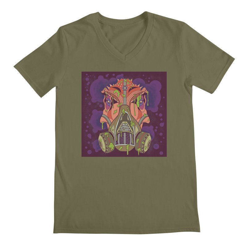 Graffiti Rex Men's Regular V-Neck by funnyfuse's Artist Shop