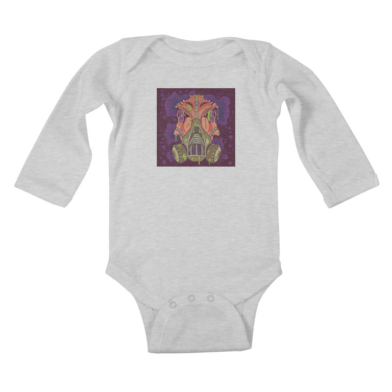 Graffiti Rex Kids Baby Longsleeve Bodysuit by funnyfuse's Artist Shop