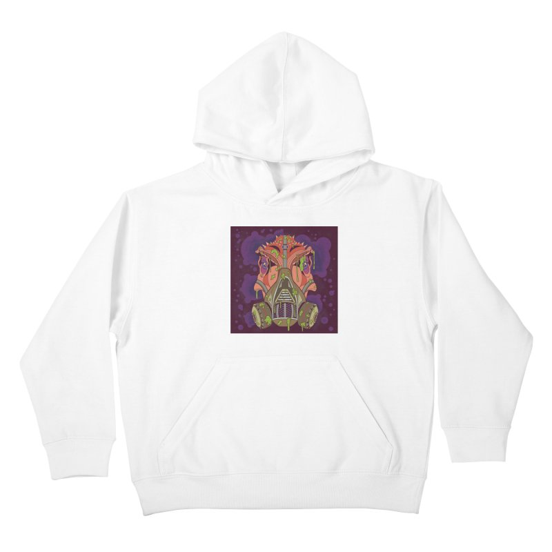 Graffiti Rex Kids Pullover Hoody by funnyfuse's Artist Shop