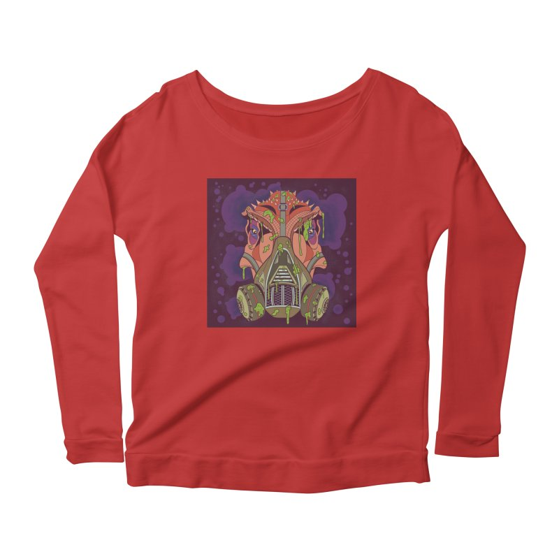Graffiti Rex Women's Scoop Neck Longsleeve T-Shirt by funnyfuse's Artist Shop