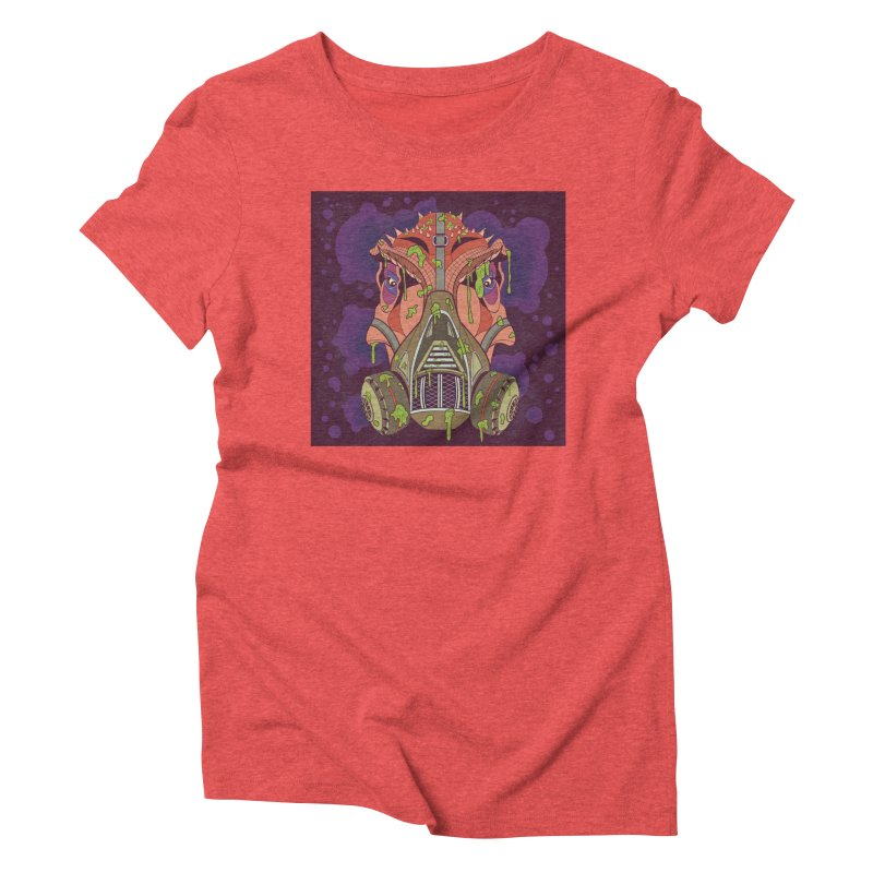 Graffiti Rex Women's Triblend T-Shirt by funnyfuse's Artist Shop