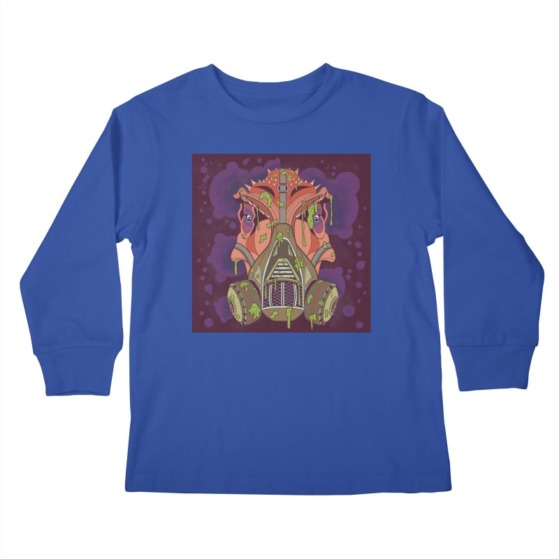 Graffiti Rex Kids Longsleeve T-Shirt by funnyfuse's Artist Shop