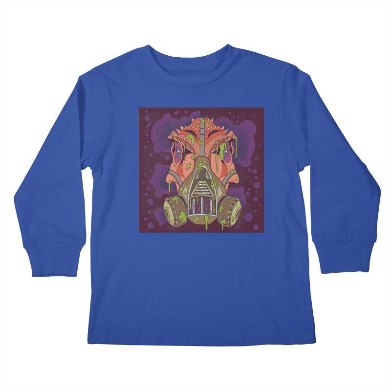 Graffiti Rex Kids Longsleeve T-Shirt by funnyfuse's Artist Shop