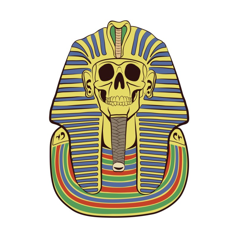 Skull Tut Accessories Beach Towel by funnyfuse's Artist Shop