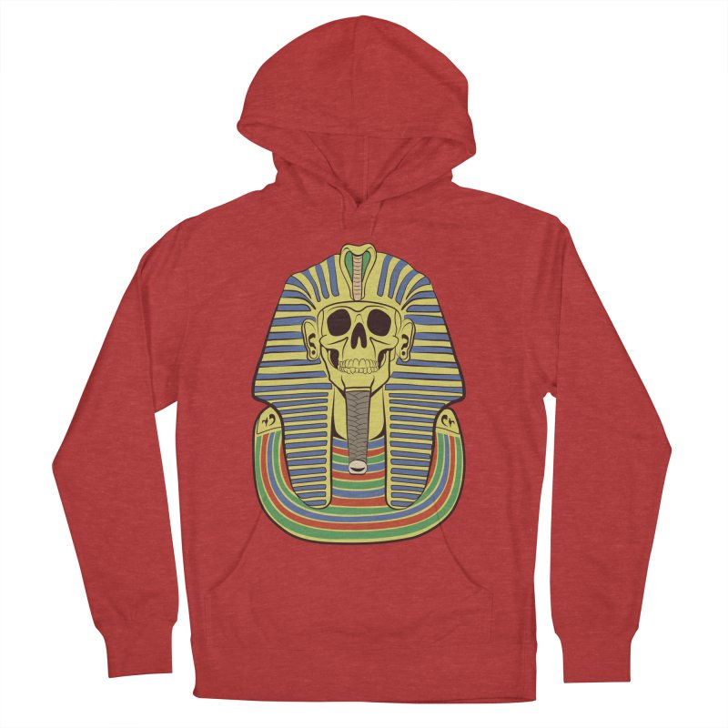Skull Tut Women's French Terry Pullover Hoody by funnyfuse's Artist Shop