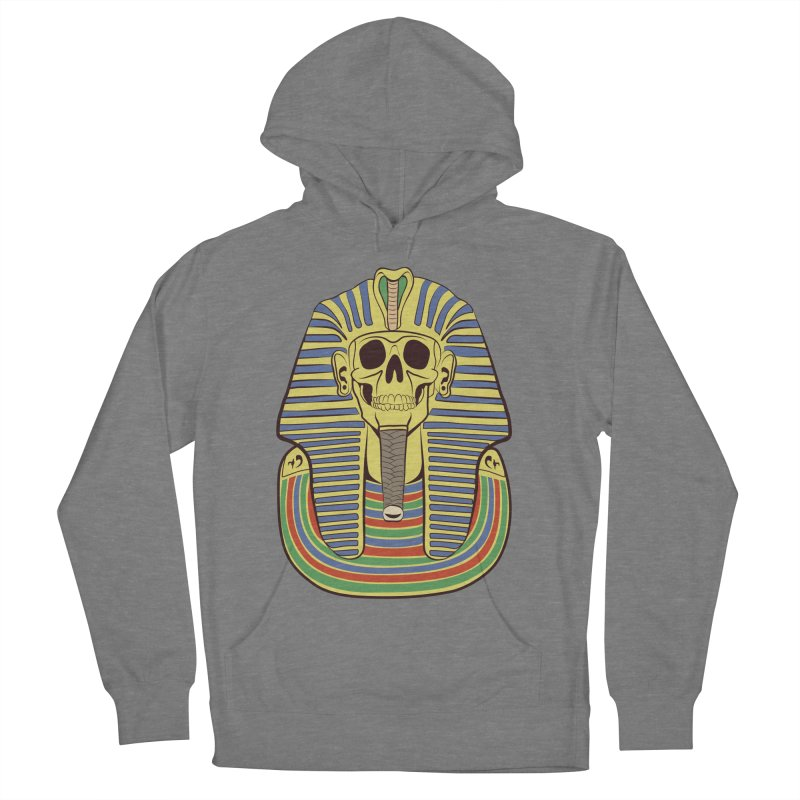 Skull Tut Men's French Terry Pullover Hoody by funnyfuse's Artist Shop
