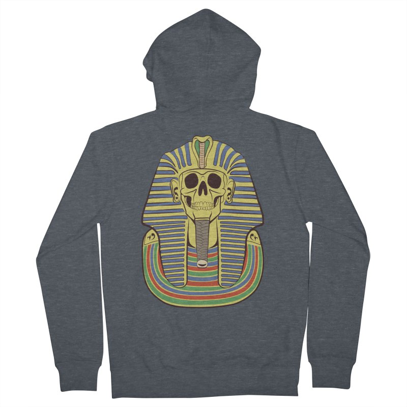 Skull Tut Women's French Terry Zip-Up Hoody by funnyfuse's Artist Shop