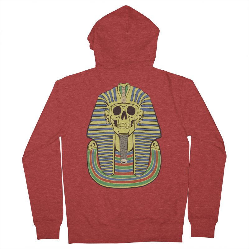 Skull Tut Men's French Terry Zip-Up Hoody by funnyfuse's Artist Shop