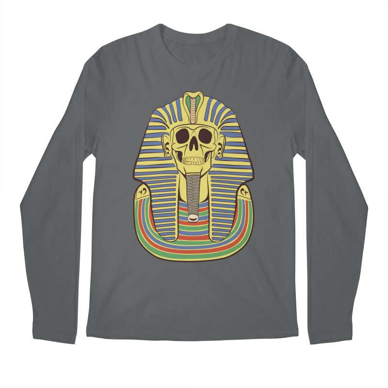 Skull Tut Men's Regular Longsleeve T-Shirt by funnyfuse's Artist Shop