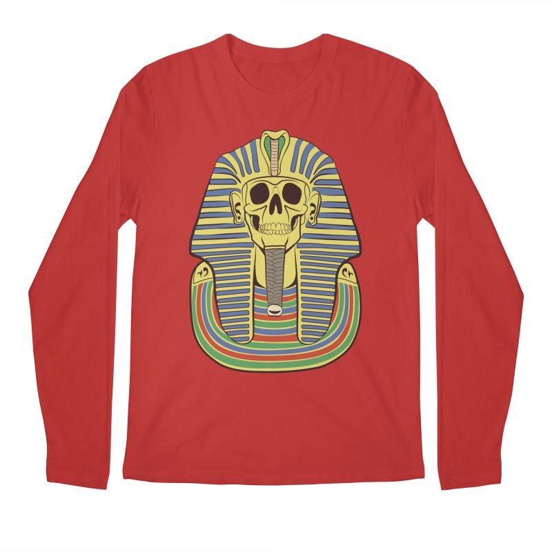Skull Tut Men's Regular Longsleeve T-Shirt by funnyfuse's Artist Shop