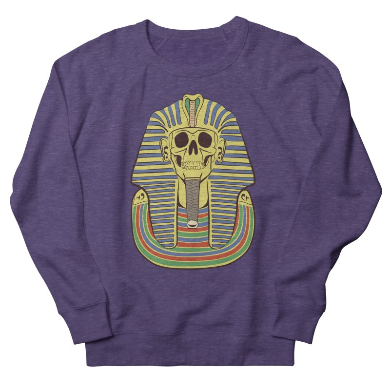Skull Tut Women's French Terry Sweatshirt by funnyfuse's Artist Shop