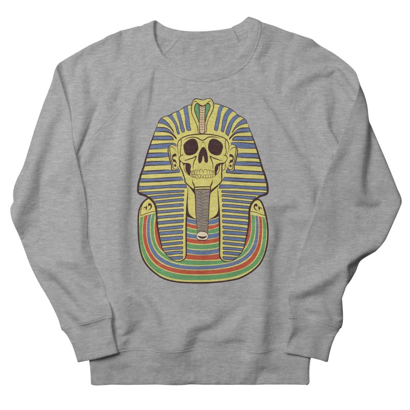 Skull Tut Women's French Terry Sweatshirt by funnyfuse's Artist Shop