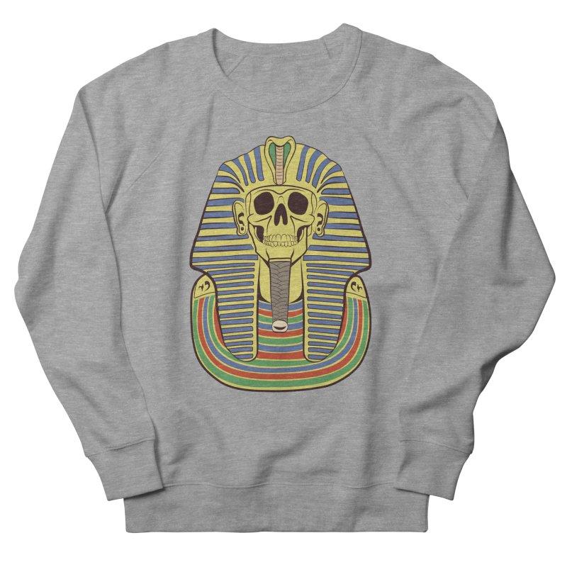 Skull Tut Men's French Terry Sweatshirt by funnyfuse's Artist Shop