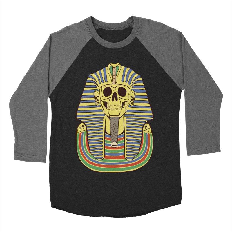 Skull Tut Women's Baseball Triblend Longsleeve T-Shirt by funnyfuse's Artist Shop