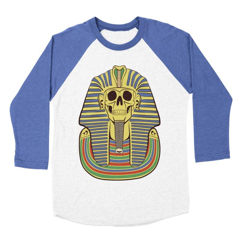Skull Tut Men's Baseball Triblend Longsleeve T-Shirt by funnyfuse's Artist Shop