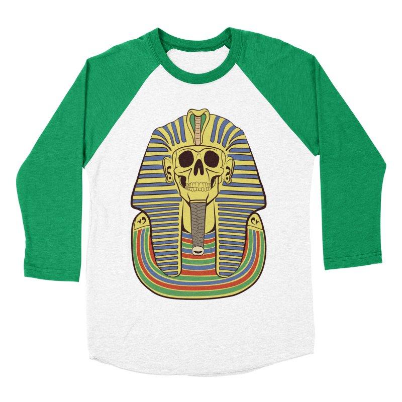 Skull Tut Men's Baseball Triblend T-Shirt by funnyfuse's Artist Shop