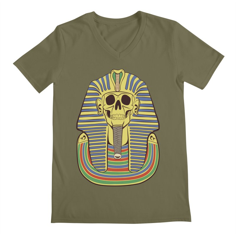 Skull Tut Men's Regular V-Neck by funnyfuse's Artist Shop