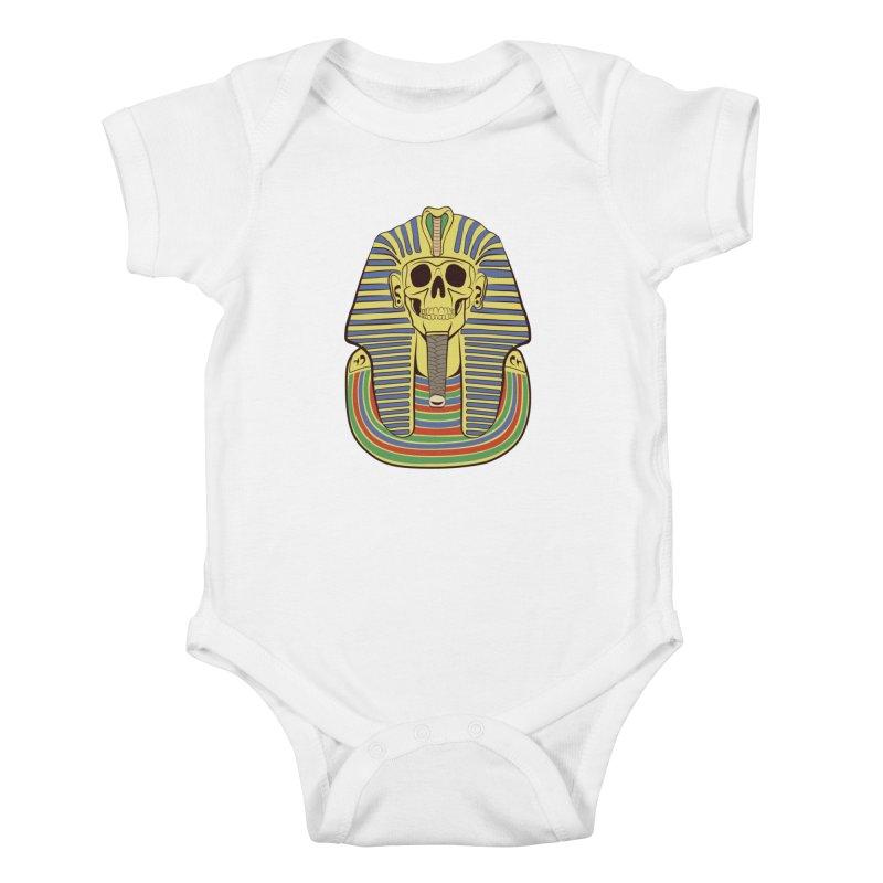 Skull Tut Kids Baby Bodysuit by funnyfuse's Artist Shop