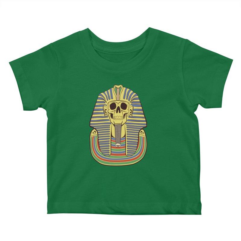 Skull Tut Kids Baby T-Shirt by funnyfuse's Artist Shop