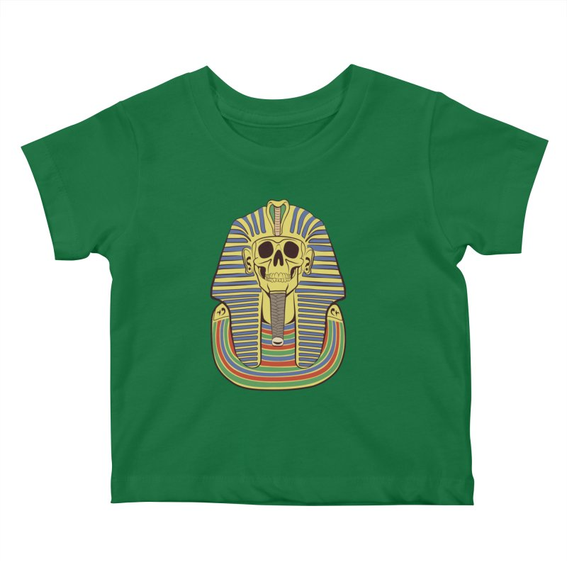 Skull Tut Kids Baby T-Shirt by funnyfuse's Artist Shop