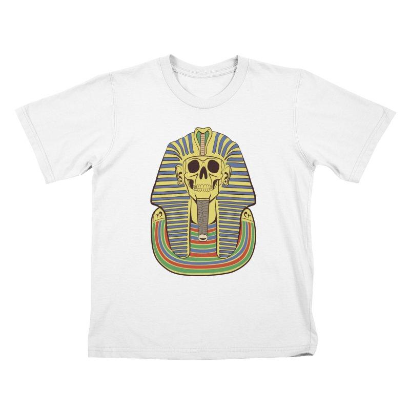 Skull Tut Kids T-Shirt by funnyfuse's Artist Shop