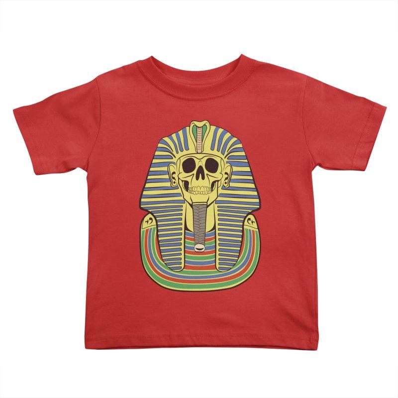 Skull Tut Kids Toddler T-Shirt by funnyfuse's Artist Shop