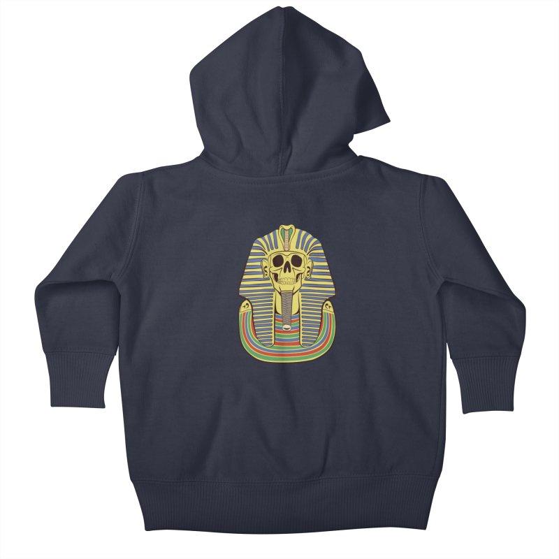 Skull Tut Kids Baby Zip-Up Hoody by funnyfuse's Artist Shop
