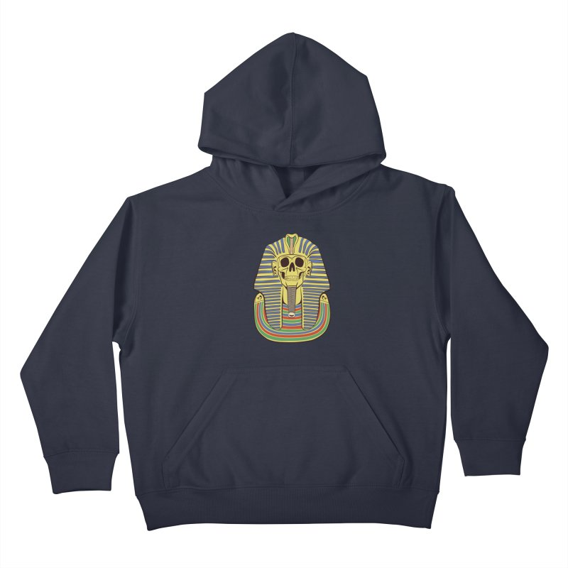 Skull Tut Kids Pullover Hoody by funnyfuse's Artist Shop