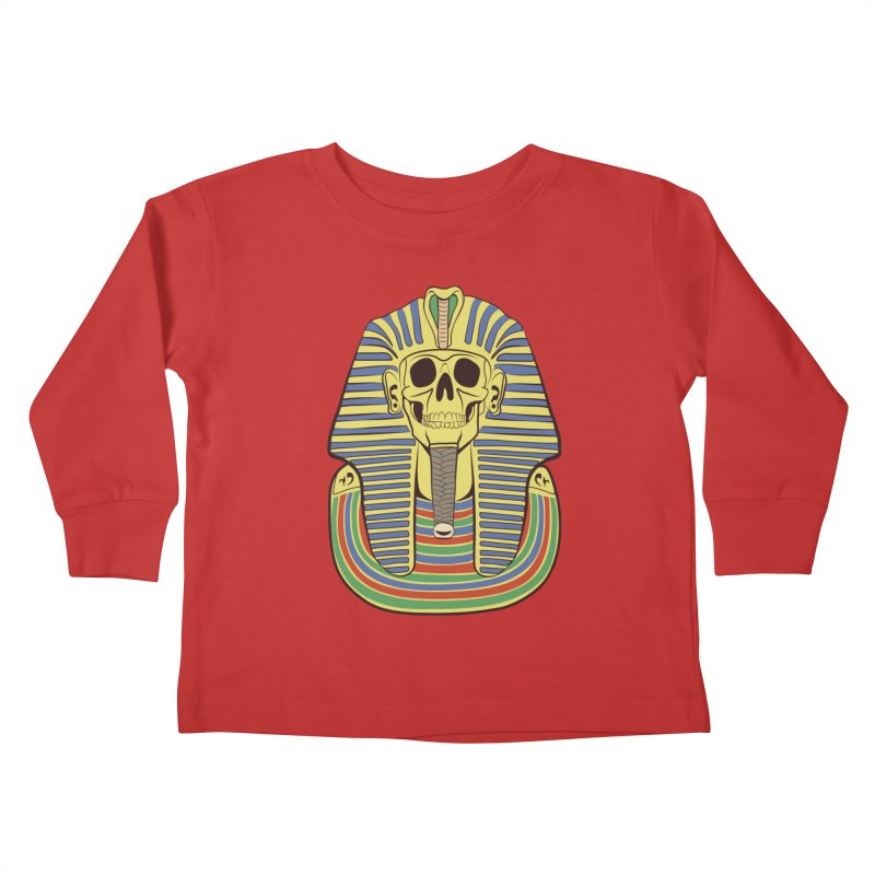 Skull Tut Kids Toddler Longsleeve T-Shirt by funnyfuse's Artist Shop
