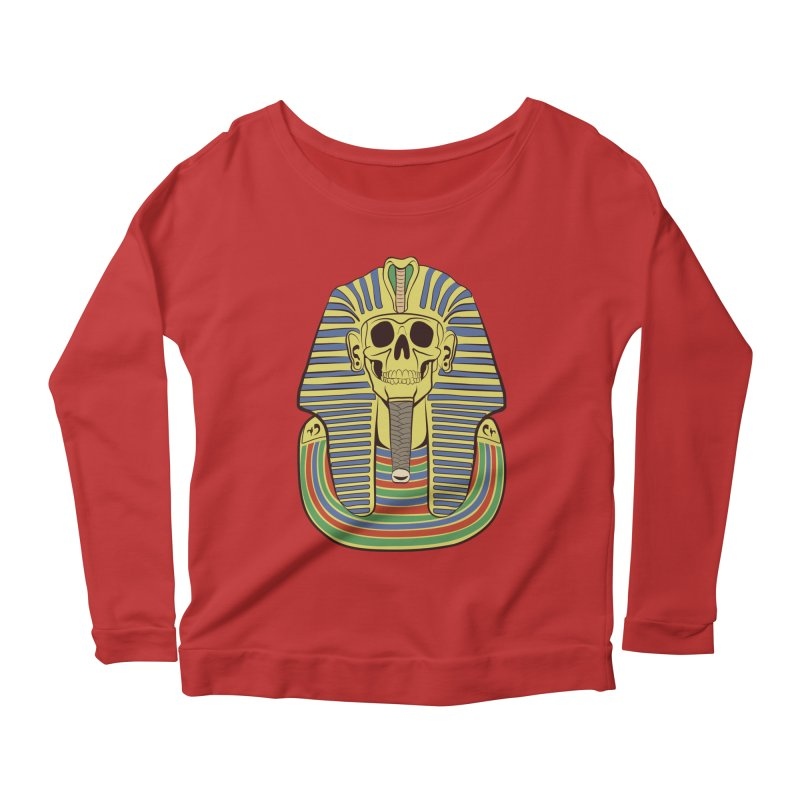 Skull Tut Women's Scoop Neck Longsleeve T-Shirt by funnyfuse's Artist Shop