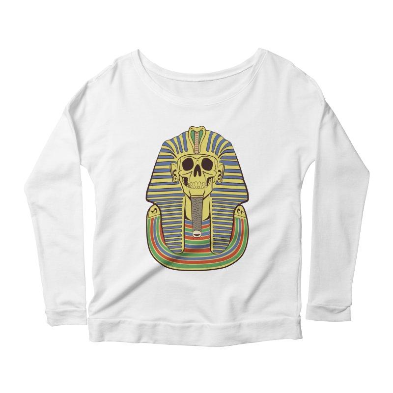 Skull Tut Women's Scoop Neck Longsleeve T-Shirt by funnyfuse's Artist Shop