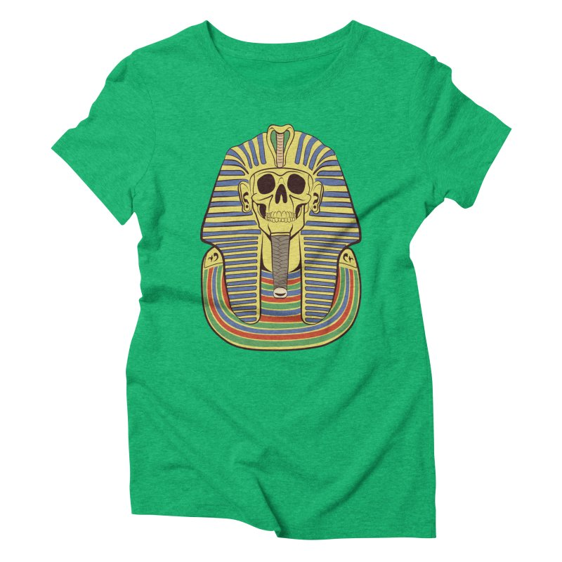 Skull Tut Women's Triblend T-Shirt by funnyfuse's Artist Shop