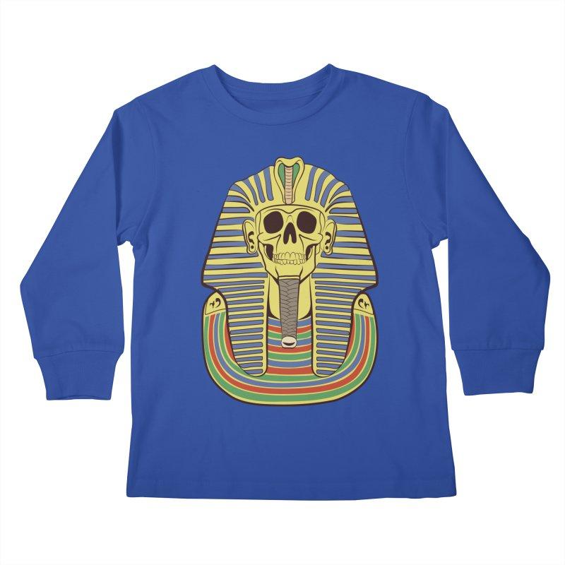 Skull Tut Kids Longsleeve T-Shirt by funnyfuse's Artist Shop