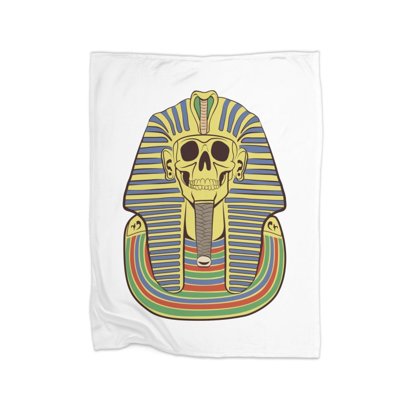 Skull Tut Home Blanket by funnyfuse's Artist Shop