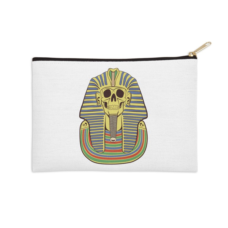 Skull Tut Accessories Zip Pouch by funnyfuse's Artist Shop