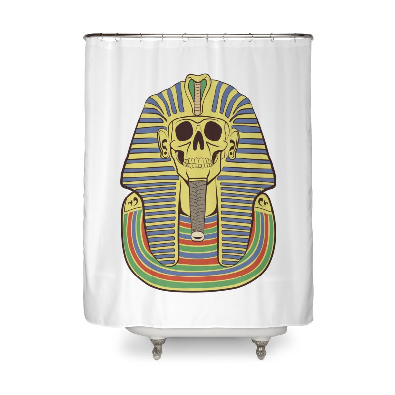 Skull Tut Home Shower Curtain by funnyfuse's Artist Shop
