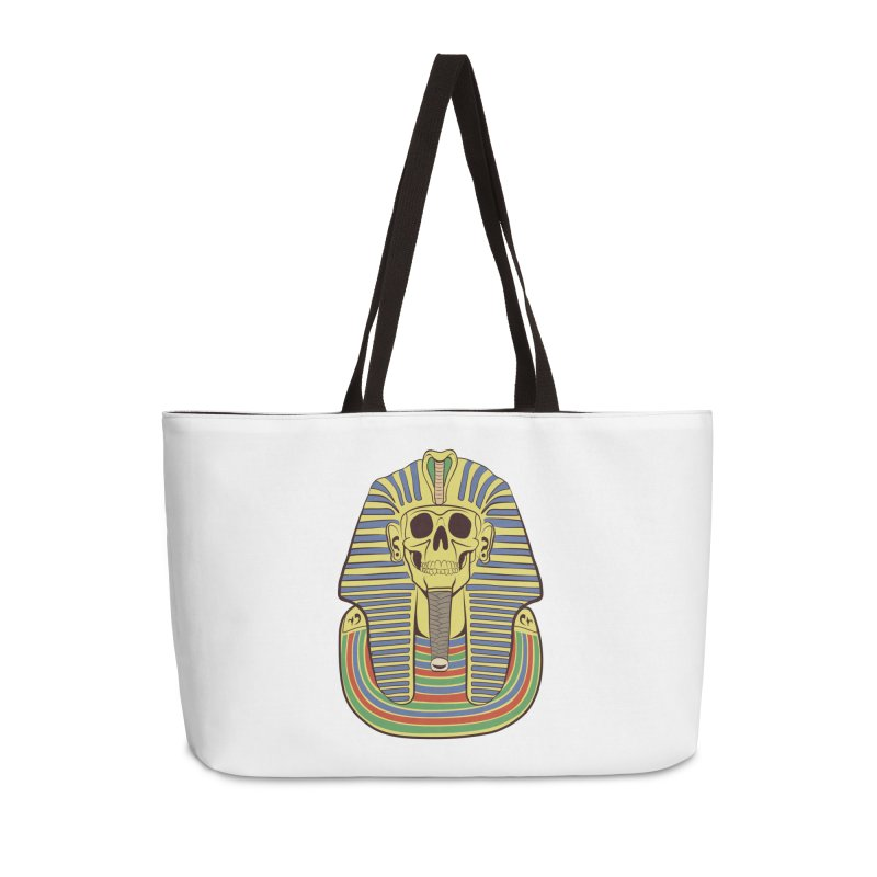 Skull Tut Accessories Weekender Bag Bag by funnyfuse's Artist Shop