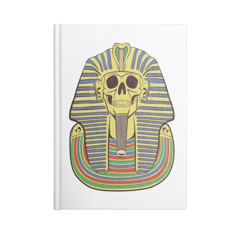 Skull Tut Accessories Lined Journal Notebook by funnyfuse's Artist Shop