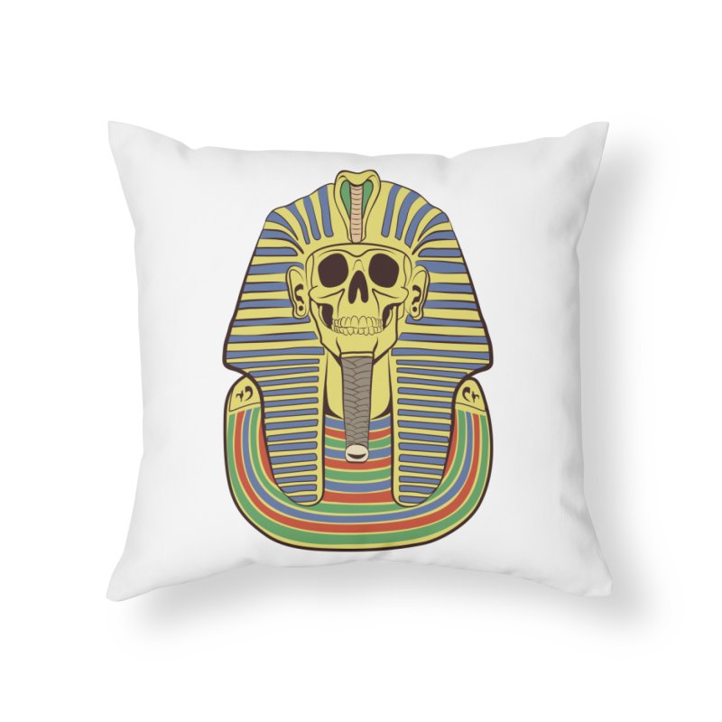 Skull Tut Home Throw Pillow by funnyfuse's Artist Shop