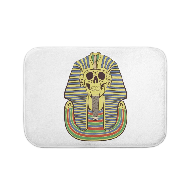 Skull Tut Home Bath Mat by funnyfuse's Artist Shop