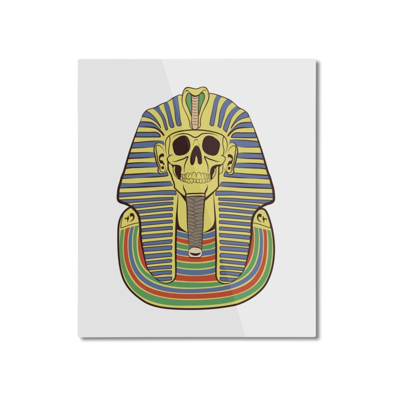 Skull Tut Home Mounted Aluminum Print by funnyfuse's Artist Shop