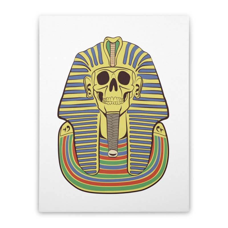 Skull Tut Home Stretched Canvas by funnyfuse's Artist Shop