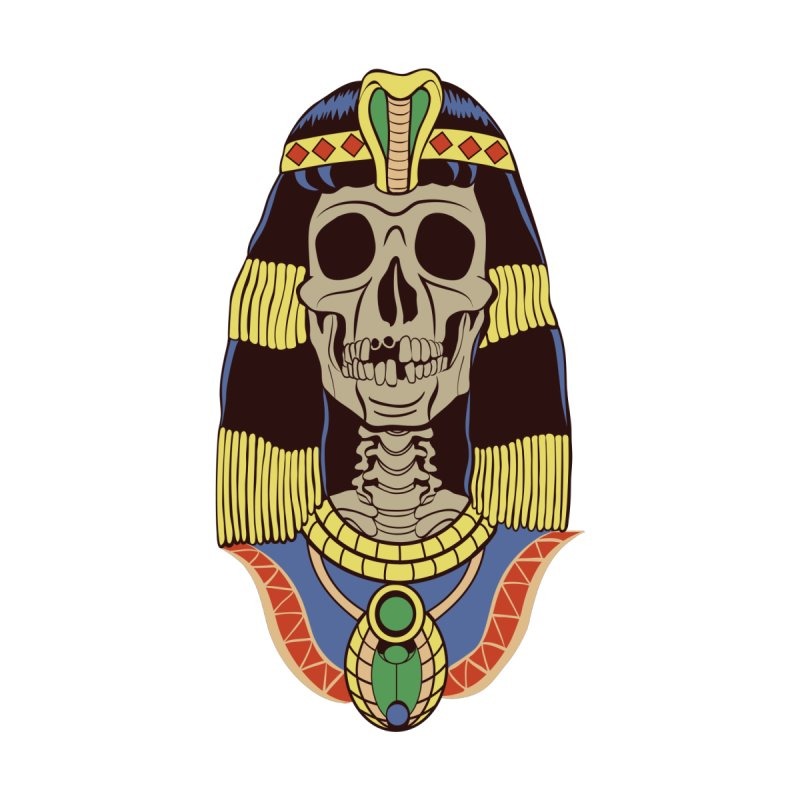 Skull Cleopatra Home Framed Fine Art Print by funnyfuse's Artist Shop