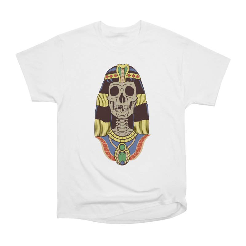 Skull Cleopatra Women's Heavyweight Unisex T-Shirt by funnyfuse's Artist Shop
