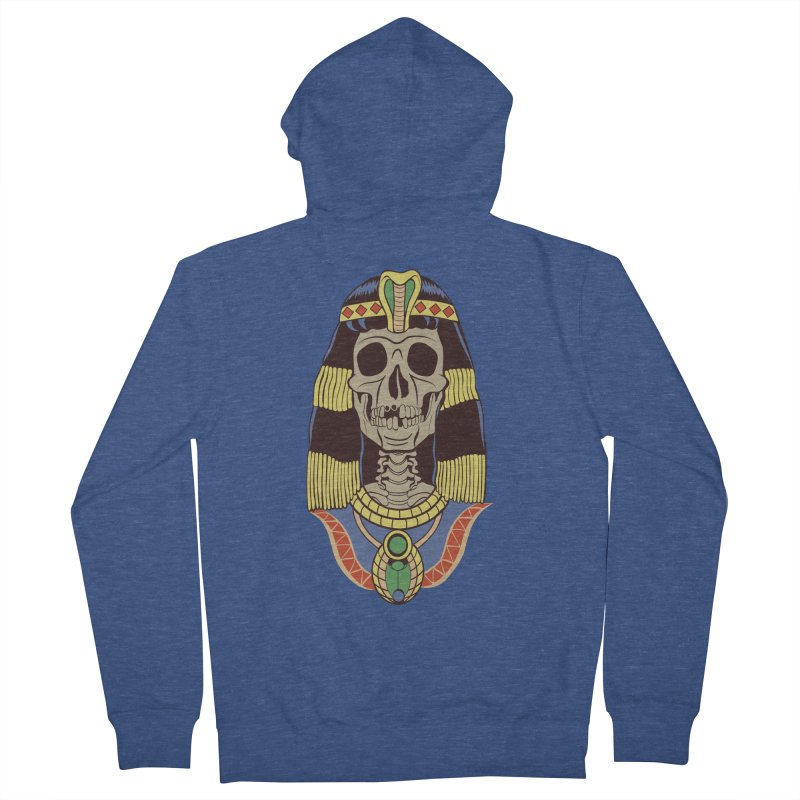 Skull Cleopatra Women's French Terry Zip-Up Hoody by funnyfuse's Artist Shop