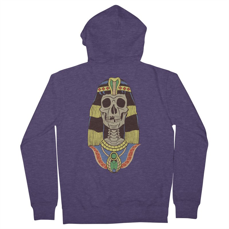 Skull Cleopatra Men's French Terry Zip-Up Hoody by funnyfuse's Artist Shop