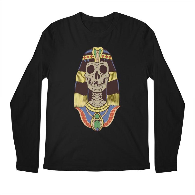 Skull Cleopatra Men's Regular Longsleeve T-Shirt by funnyfuse's Artist Shop