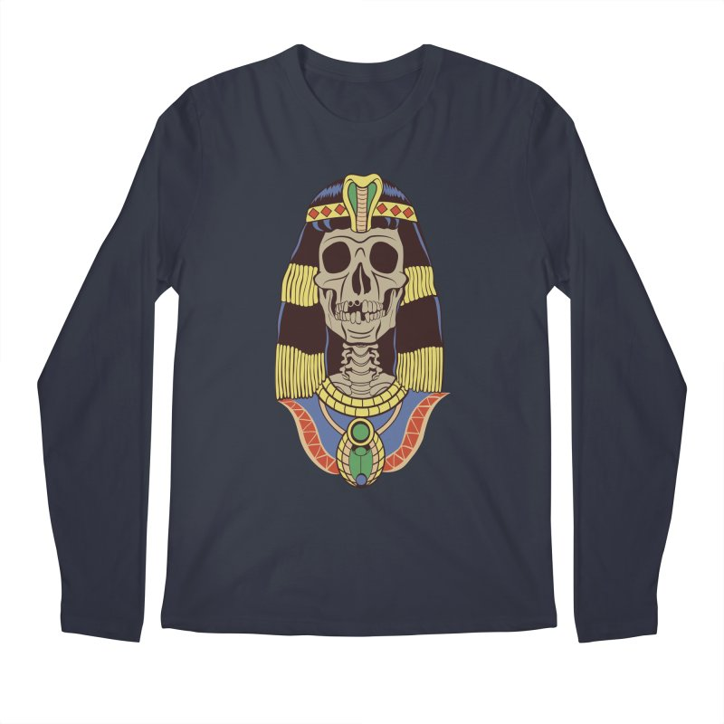 Skull Cleopatra Men's Regular Longsleeve T-Shirt by funnyfuse's Artist Shop