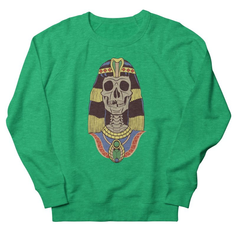 Skull Cleopatra Men's French Terry Sweatshirt by funnyfuse's Artist Shop