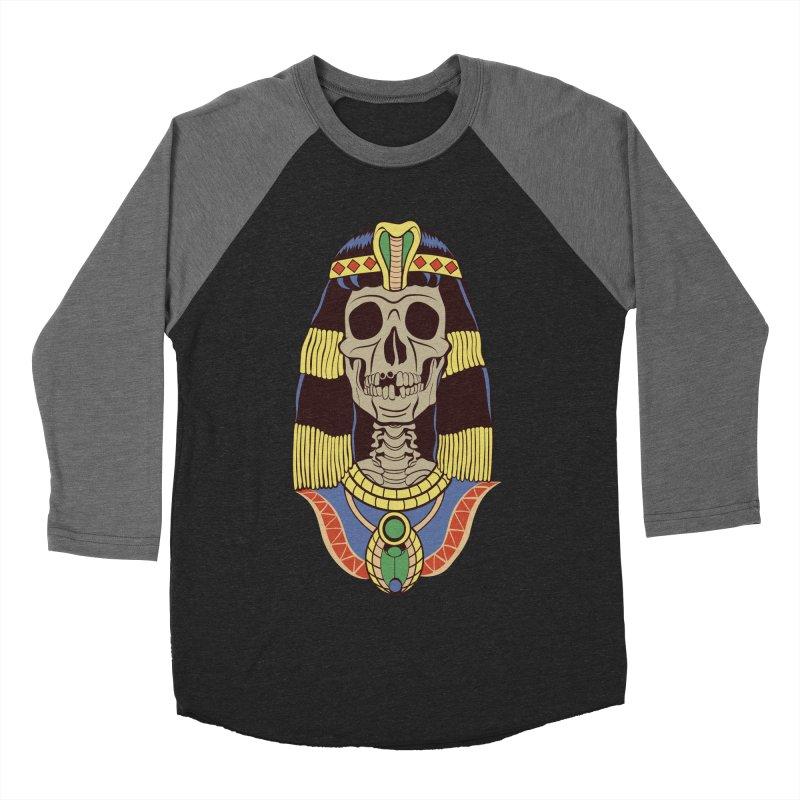 Skull Cleopatra Women's Baseball Triblend Longsleeve T-Shirt by funnyfuse's Artist Shop